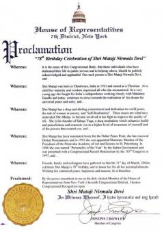 NY_Shri_Mataji_78_Birthday_Proclamation